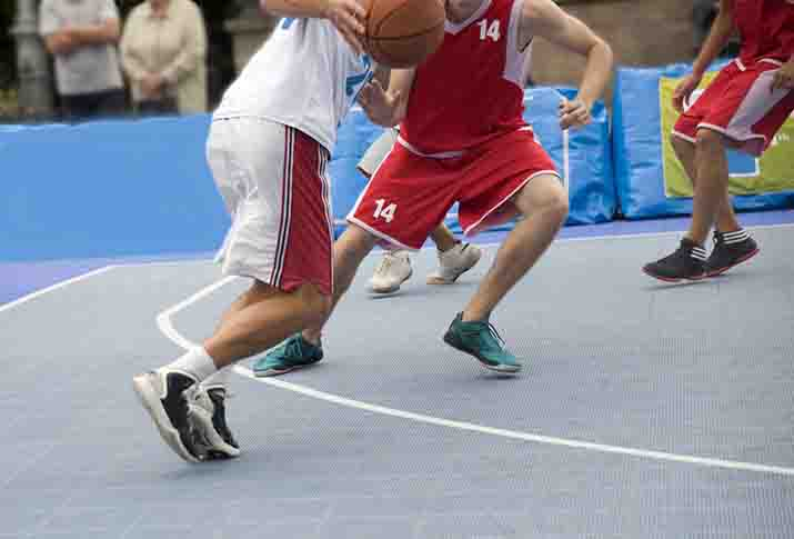 How can a basketball shoe help in preventing ankle sprain?